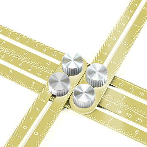Ankace Multi Angle Measuring Ruler, Premium Aluminum Alloy Ultimate 836 Angleizer Template Tool/Layout Tool Measurement for Handymen, Builders, Craftsmen, DIY-ers (Golden)