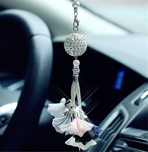 fochutech crystal ball car pendant decor lucky safety hanging ornament gift rear view mirror. Black Bedroom Furniture Sets. Home Design Ideas