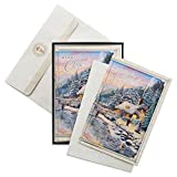 HALLMARK - 12 CT THOMAS KINKADE - WINTER EVENING COTTAGE