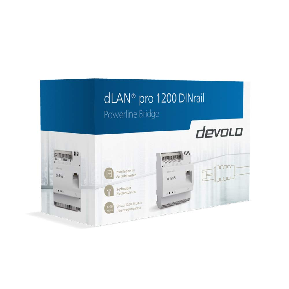 Adaptateur de Rails Powerline Devolo dLAN Pro 1200/DINrail