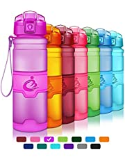 Grsta Sport Water Bottle, 400ml / 500ml / 700ml / 1000ml - Bpa Free Eco-Friendly Tritan Plastic, Reusable Drinks Water Bottles with Filter, for Kids, Running, Gym, Yoga, Camping, Outdoors