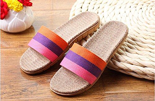 Les Sandales Confortables Légères Soulèvent glissantes 2 d'intérieur d'intérieur Pantoufles Pantoufles Toile de Les Non de Unisexes 8qw8O