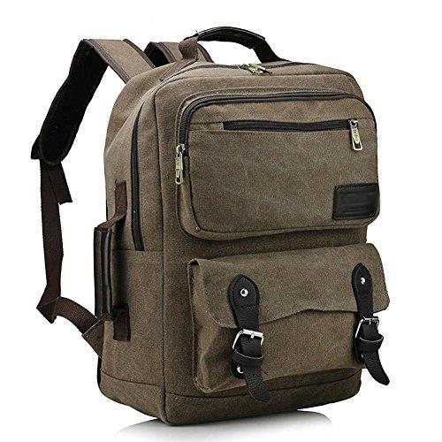 SZH&BEIB Moda mochila de lona del recorrido al aire Mochila casual para hombres y mujeres School , B A