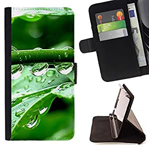 Momo Phone Case / Flip Funda de Cuero Case Cover - Gotas de cristal Agua - Samsung Galaxy S6