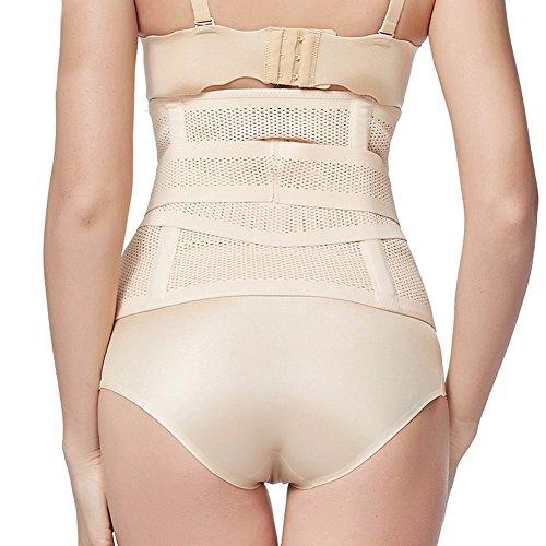 PULABO Faja Postparto Para Mujeres Con Velcro Cintura 75-93 cm Desnudo5