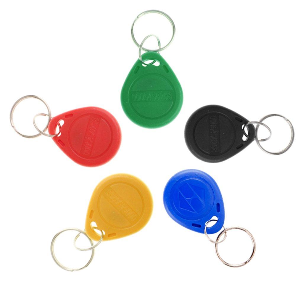 B Blesiya 50//100//150 St/ück RFID Transponder Chipschl/üssel Keyfob 125 Khz Schl/üsselanh/änger Chips Card 100 St/ück Gelb
