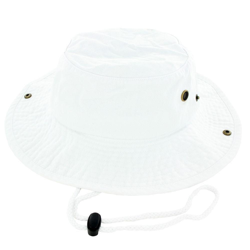 White_(US Seller)Cotton Hat Boonie Bucket Cap Summer Men Women