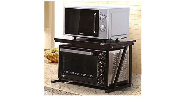 Byrhgood Soporte de microondas Estante de Cocina Almacenamiento de Almacenamiento de Especias Marco Multifuncional 58 * 37 * 38 cm (Color : B): Amazon.es: Hogar