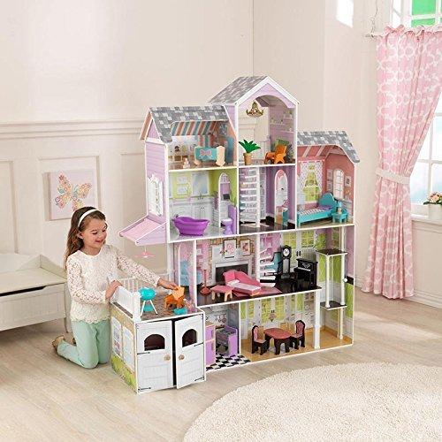KidKraft Grand Estate Dollhouse + 26 Pieces of Furniture (3+ Years) by KidKraf by KidKraf