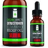 Hemp Oil (2 Pack :: 50,000mg Each) Pain Relief Anxiety Relief Sleep Support :: Organic - Hemp Extract Supplement