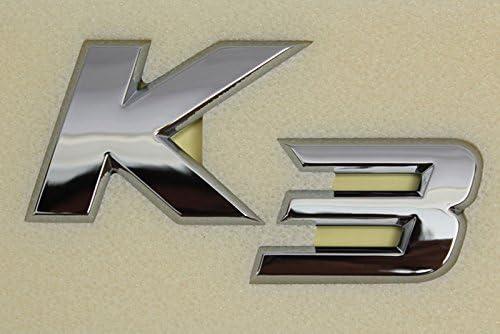 Kia Forte Koup Sedan K3 Letter Emblem Trunk Rear Chrome Tail Lid
