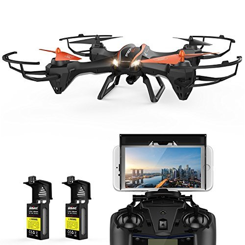 (DBPOWER Predator U842 WIFI RC Quadcopter Drone with HD Camera 2.4G 4CH 6 Axis Gyro Headless Mode For Beginners, Big Size Black for Outdoor Use)