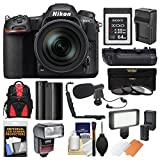 Cheap Nikon D500 Wi-Fi 4K Digital SLR Camera & 16-80mm VR Lens with 64GB XQD Card + Case + Flash + Battery/Charger + Grip + 3 Filters + Mic + Kit