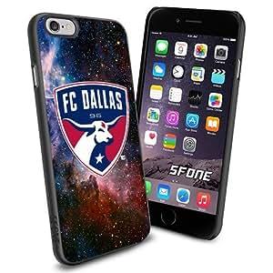 MLS , FC Dallas Soccer Team Galaxy Nebula iPhone 5s Smartphone Case Cover Collector iPhone TPU Rubber Case Black
