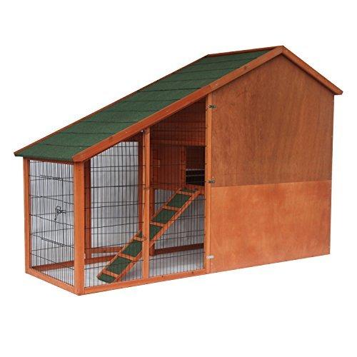 ALEKO ACCRH83X32X57 83 x 32 x 57 Inches Fir Wood Pet House Chicken Coop Rabbit Hutch