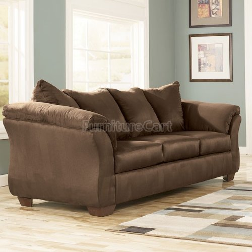 Ashley Darcy Collection 7500436 90″ Full Sofa Sleeper with Fabric Upholstery Plush Padded Arms Tapered Block Feet and Contemporary Style in