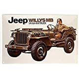 Jeep willys mB 20 x 30 cm style metal 625