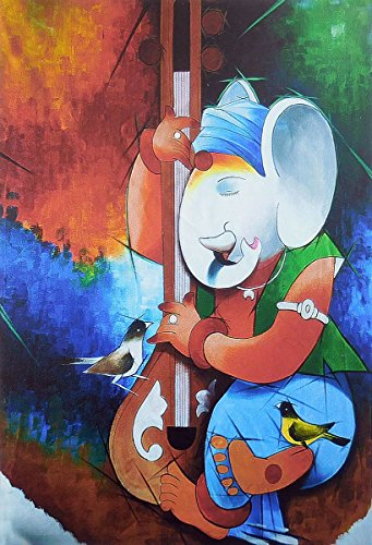 Lord Ganesha Playing Sitar