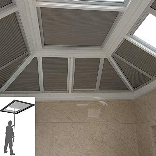 Manual/Motorized Skylight Roof Window Cellular Honeycomb Blackout Blinds Curtain,Website Price 1pc,Manual Control,Size:39″ W x 39″ L Contact Us Customize Size,Or Motorized Power110-240V