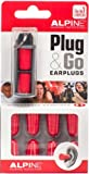 Alpine Plug&Go Disposable Noise Cancelling Ear Plugs, Pack of 10 ear plugs, Red