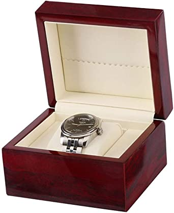 Soltero Caja De Relojes, Madera Estuche para Relojes, Almohadas Extraíbles, Cuero De La PU Reloj Caja De Almacenamiento: Amazon.es: Relojes