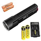 Bundle: Nitecore EC4SW 2000 lumens CREE MT-G2 LED Tactical Flashlight With 18650 Batteries and UM20 Charger With Skyben Battery Cases