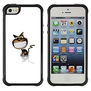 Lady Case@ Funny Cute Smile Cat Rugged Hybrid Armor Slim Protection Case Cover Shell For iphone 5S CASE Cover ,iphone 5 5S case,iphone5S plus cover ,Cases for iphone 5 5S