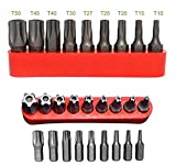 5 point tamper proof torx - ALAZCO 5-Point Star Bit Tamper-Proof 9pc Bit Set - 1/4