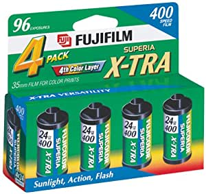 Fujifilm 1068620 Superia X-TRA 400 35mm Film - 4x24 exp, (Discontinued by Manufacturer)