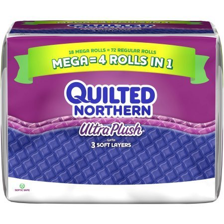 Quilted Northern Ultra Plush Toilet Paper Mega Rolls, 330 sh