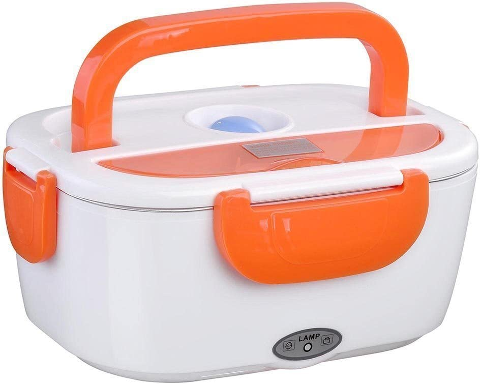 Fair Scaldavivande Elettrico 2 Scomparti Scalda Pranzo Portatile con Manico Termico ShopOnline Arancio