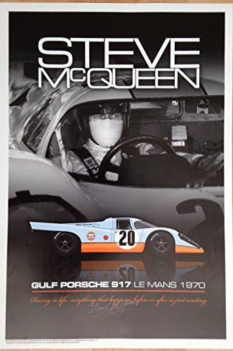 Steve McQueen in the Gulf Porsche 917 #20 - Le Mans - Mcqueen Steve Signature