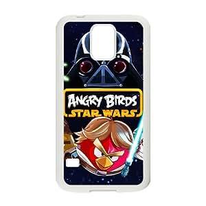 Angry Birds Starwars Funda Samsung Galaxy S5 Funda Caja del teléfono celular blanco I8T0NK Teléfono barato caja de plástico