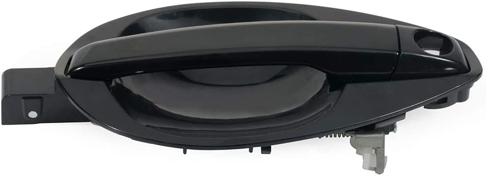 ZENITHIKE Black Door Handle Exterior Front Passenger Right Side for Select 2003-2008 Hyundai Tiburon