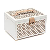 WOLF 301053 Chloe Medium Jewelry Box, Cream