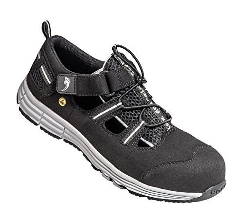 BAAK Rico2 - Zapatillas de seguridad Unisex adulto Multicolour (Black/Gray)