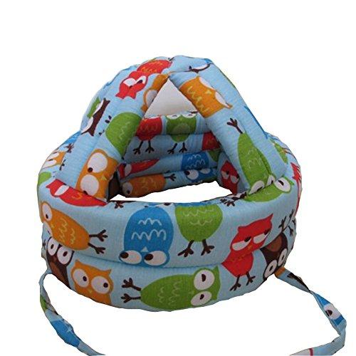 Baby & Infant Toddler Safety Helmet Head Protection Cap Owl Blue(Adjustable)