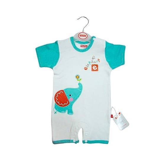 Fisher Price - Pelele de bebé para verano - 100% Algodón Peinado - Varias Tallas