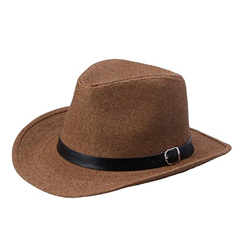 WOCACHI Vanlentine Day Hats and Caps Summer Men Straw Hat Cowboy Hat