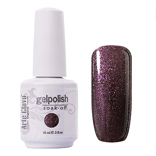 - Arte Clavo Gel Polish Soak Off UV LED Lamp Lacquer Nail Art Varnish Professional 15ml Brush Brown