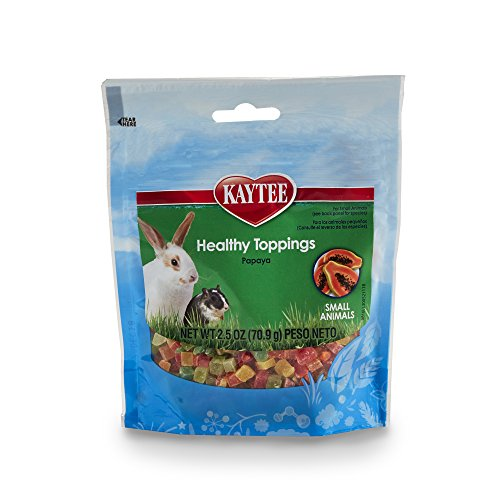 Kaytee Fiesta Healthy Toppings Papaya Treat for Small Animals, 2.5-oz bag (Kaytee Chews Rats For Perfect)