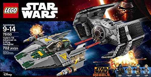 LEGO Star Wars Vader's TIE Advanced vs. A-Wing Starfighter 75150
