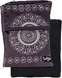 Sprigs Big Banjee Wrist Wallet (Slate Gray Batik)
