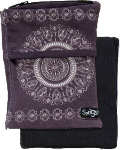Sprigs Big Banjee Wrist Wallet (Slate Gray Batik) -
