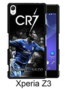 Recommended Design Phone Case CR7 Black Newest Personalized Design Sony Xperia Z3 Cover Case