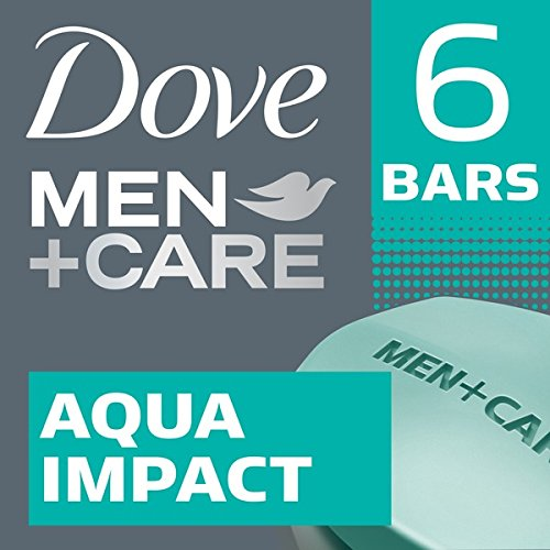 Dove Men + Care Body + Face Bars Aqua Impact - 6 ct