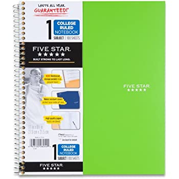 Amazon.Com : Five Star Spiral Notebook, 1 Subject, Graph Ruled