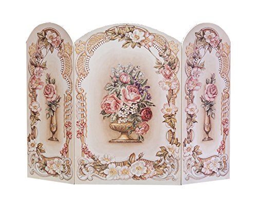 - The Stupell Home Decor Collection 3 Panel Decorative Fireplace Screen, Victorian Floral, 43 by 31 by 0.5-Inch