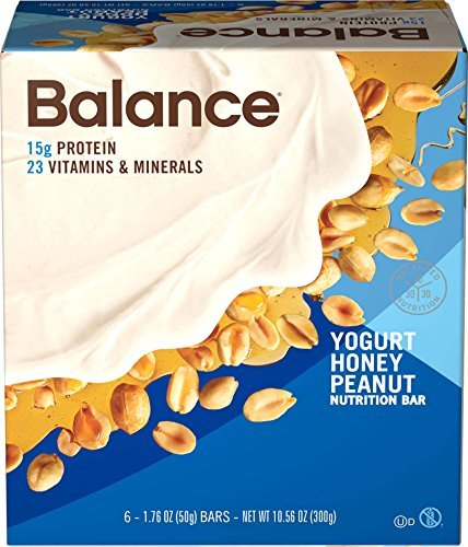 Balance Bar Yogurt Honey Peanut, 6 count Value Pack by BALANCE Bar