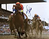 Mike Smith (Miami Dolphins) Signed Photo - 8x10 Justify 2018 Belmont Stakes SI COA - Autographed NFL Photos